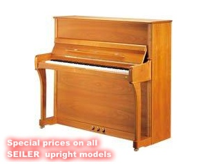 Special prices on all SEILER upright models