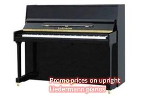 Promo prices on upright Liedermann pianos